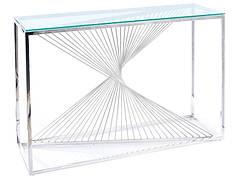 Консоль FLAME C прозорий/срібний 120X40