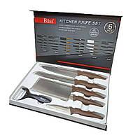 Набор Кухонных ножей с овощечисткой Bass B8081 из 6 предметов