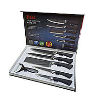 Набор Кухонных ножей с овощечисткой Bass B5881 из 6 предметов