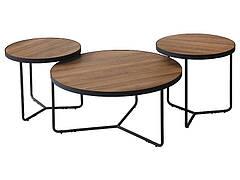 Журнальний столик DEMETER II горіх / чорний (Комплект)