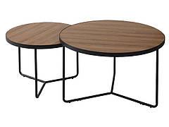 Журнальний столик ITALIA II горіх / чорний (Комплект)