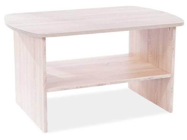 Журнальний столик HEKA дуб сонома 90X60X50, фото 2