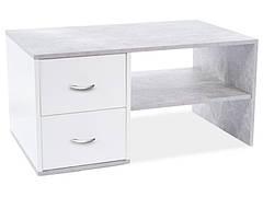 Журнальний столик HELEN бетон / білий мат 100X60X50