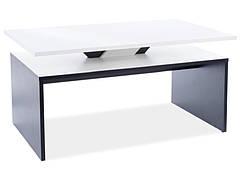 Журнальний столик LOVA білий мат / чорний мат 100X60X50