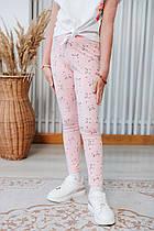 Стильные детские лосины для девочек Cat pink!! Турция. 4-9 лет.