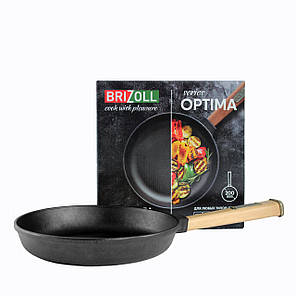 Чугунная сковорода Brizoll Optimа, 200х35 мм, фото 2