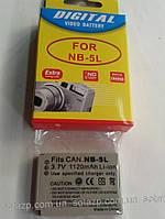 Аккумулятор для фото- видеокамеры Canon NB-5L,  NB5L, NB 5L   1120mAh