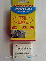 Аккумулятор для фото- видеокамеры Canon NB-6L,  NB6L, NB 6L   1000mAh