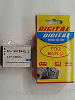 Аккумулятор для фото- видеокамеры Nikon EN-EL12,  ENEL12    900mAh