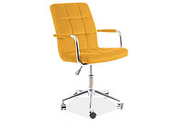 Крісло поворотне Q-022 VELVET карі BLUVEL 68