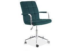 Крісло поворотне Q-022 VELVET зелений BLUVEL 78