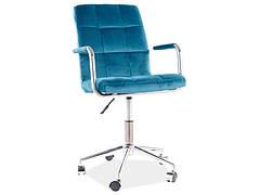 Крісло поворотне Q-022 VELVET бірюза BLUVEL 85