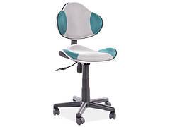 Крісло поворотне Q-G2 бірюза/сірий
