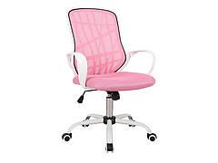 Крісло поворотне DEXTER рожевий/білий