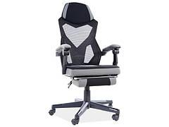 Крісло поворотне Q-939 чорний/сірий