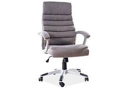 Крісло поворотне Q-087 сіра тканина