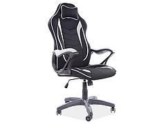 Крісло поворотне ZENVO чорний/сірий