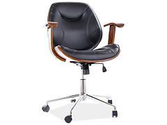 Крісло поворотне RODEO чорна екошкіра