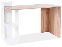Комп'ютерний стіл B-001 дуб вотан / білий мат