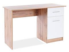 Комп'ютерний стіл B-002 дуб вотан / білий мат