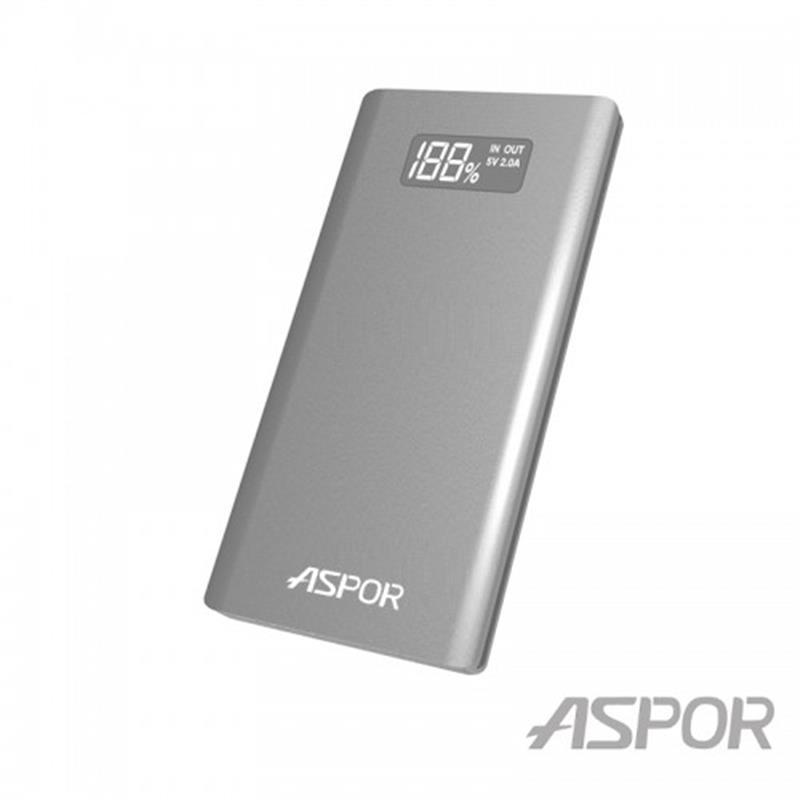 Универсальная мобильная батарея Aspor A387S 10000mAh Silver (900083)