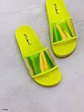 Женские шлепанцы желтые + хамелеон силикон/ резина, фото 3
