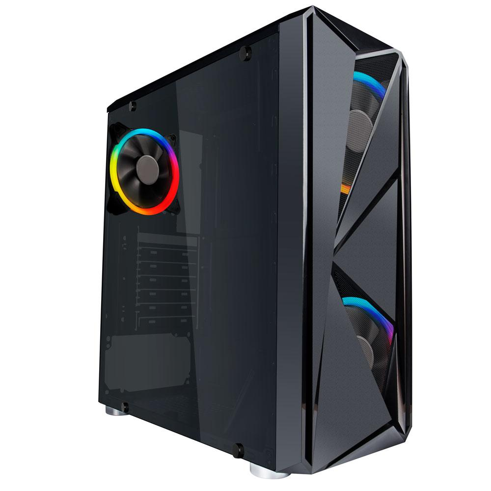 Корпус 1stPlayer F4-3R2 RGB Black без БЖ