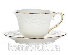 """Сервиз чайный 14 предметов (чашки, блюдца, чайник, сахарница) """"Белая ночь"""" 1777"""