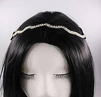 Стильна Тіара-ободок на голову Хвиля (срібло) №64, фото 1