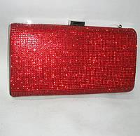 Красный клатч  блестящий Очень красиво сверкает. Красный вечерний клатч, фото 1