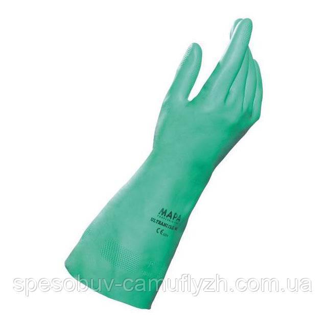 Рукавички нітрилові хімічні Ultranitril 492 MAPA міцні