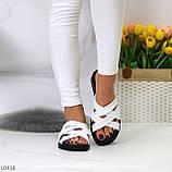 Шльопанці жіночі білі натуральна шкіра, фото 2