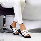 Шльопанці жіночі білі натуральна шкіра, фото 4
