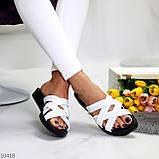 Шльопанці жіночі білі натуральна шкіра, фото 5