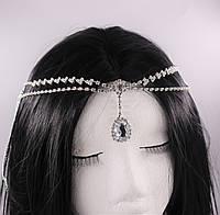 Прекрасная тика (украшение) на голову Капелька (серебро) №38, фото 1