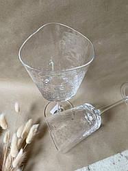 Набор 6 бокалов для вина из прозрачного стекла Белый Ангел 350 мл