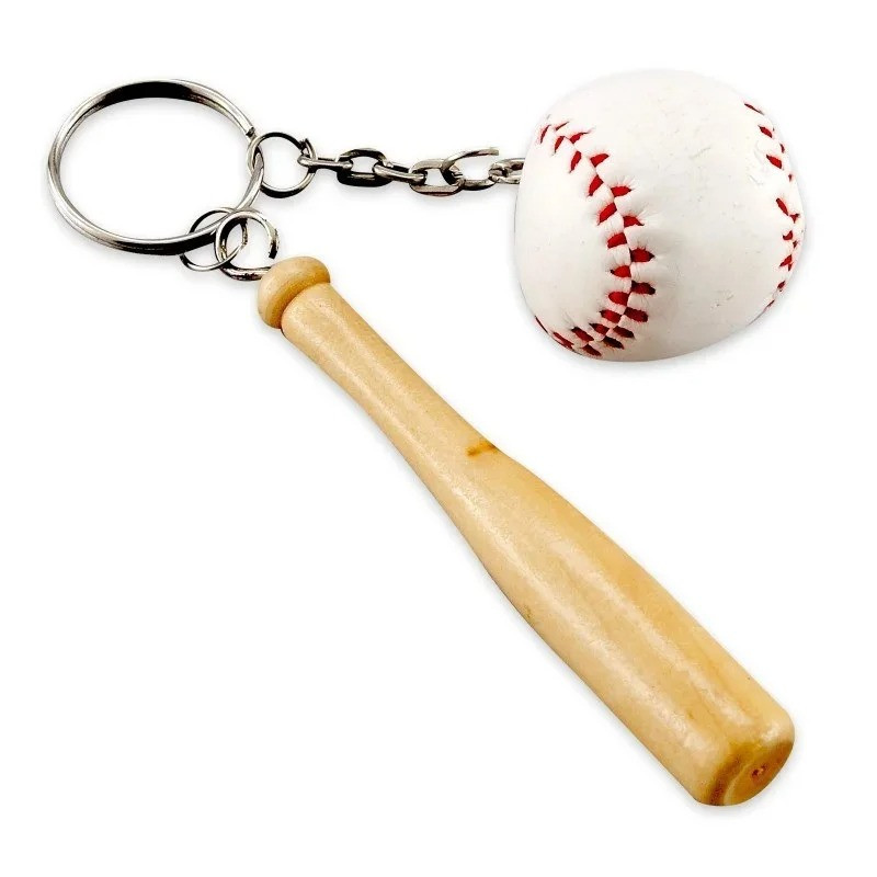 Оригінальний Брелок для ключів Бейсбольна біта з м'ячем 12 шт