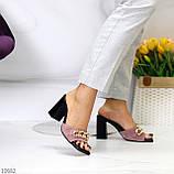 Шльопанці / сабо жіночі чорні-рожеві рум'яна на підборах 9,5 см натуральна замш, фото 2