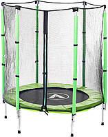 Батут Atleto 140 см з сіткою зелений (21000402)
