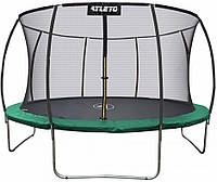 Батут Atleto 252 см з внутрішньою сіткою зелений (21000803)