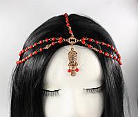 Східна ланцюжок на голову Тіара червоні намистини №11, фото 1