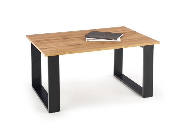 Журнальний стіл LIBRA дуб вотан /чорний (100х64х50) Halmar