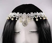 Нежное украшение на голову Кружево и Жемчуг №9, фото 1
