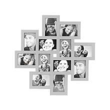 """Фоторамка коллаж удобная и оригинальная для 12 фотографий размером 15*10 см """"Cluster"""""""