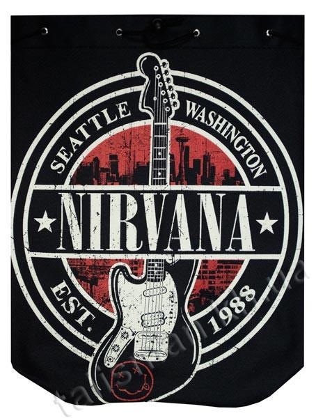 NIRVANA Seattle Washington рок-рюкзак