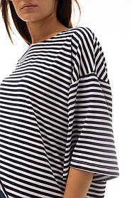 Женская полосатая футболка тельняшка OVERSIZE