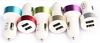 Переходник от прикуривателя на USB (двойной) METAL (SQUARE) 2 USB CAR CHARGER Зарядное устройство CAR USB 004