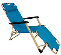 Шезлонг лежак Bonro 180 см блакитний (70000011)
