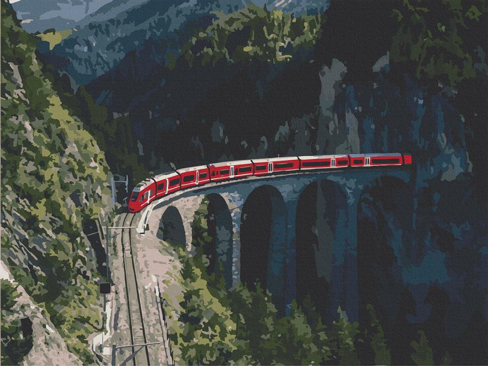 """Картина за номерами. Art Craft """"Подорож в серце Швейцарії"""" 40х50 см 10556-AC"""
