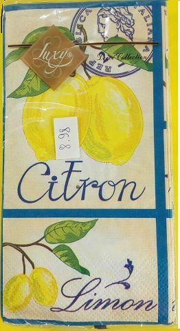 Святкова серветка (ЗЗхЗЗ, 10шт) Luxy MINI Свіжість лимона (987) (1 пач.)